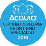Acquia Certified Developer - Front End Specialist 2016