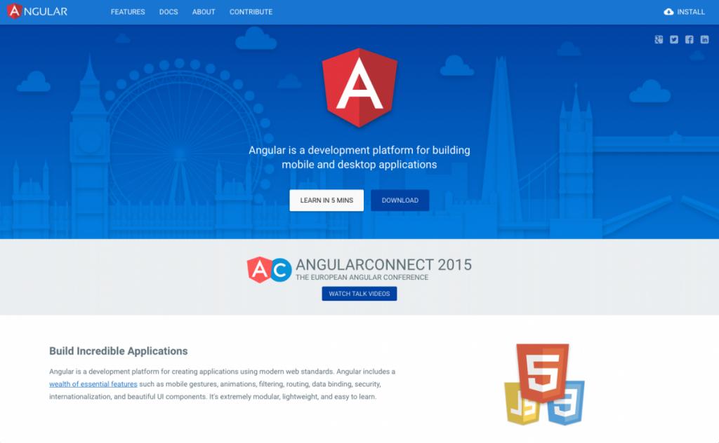 Angular.io Material Design example
