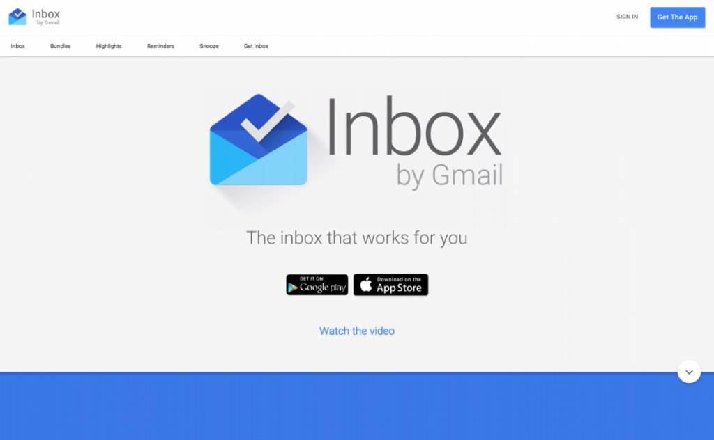 Inbox by Google Material Design Example
