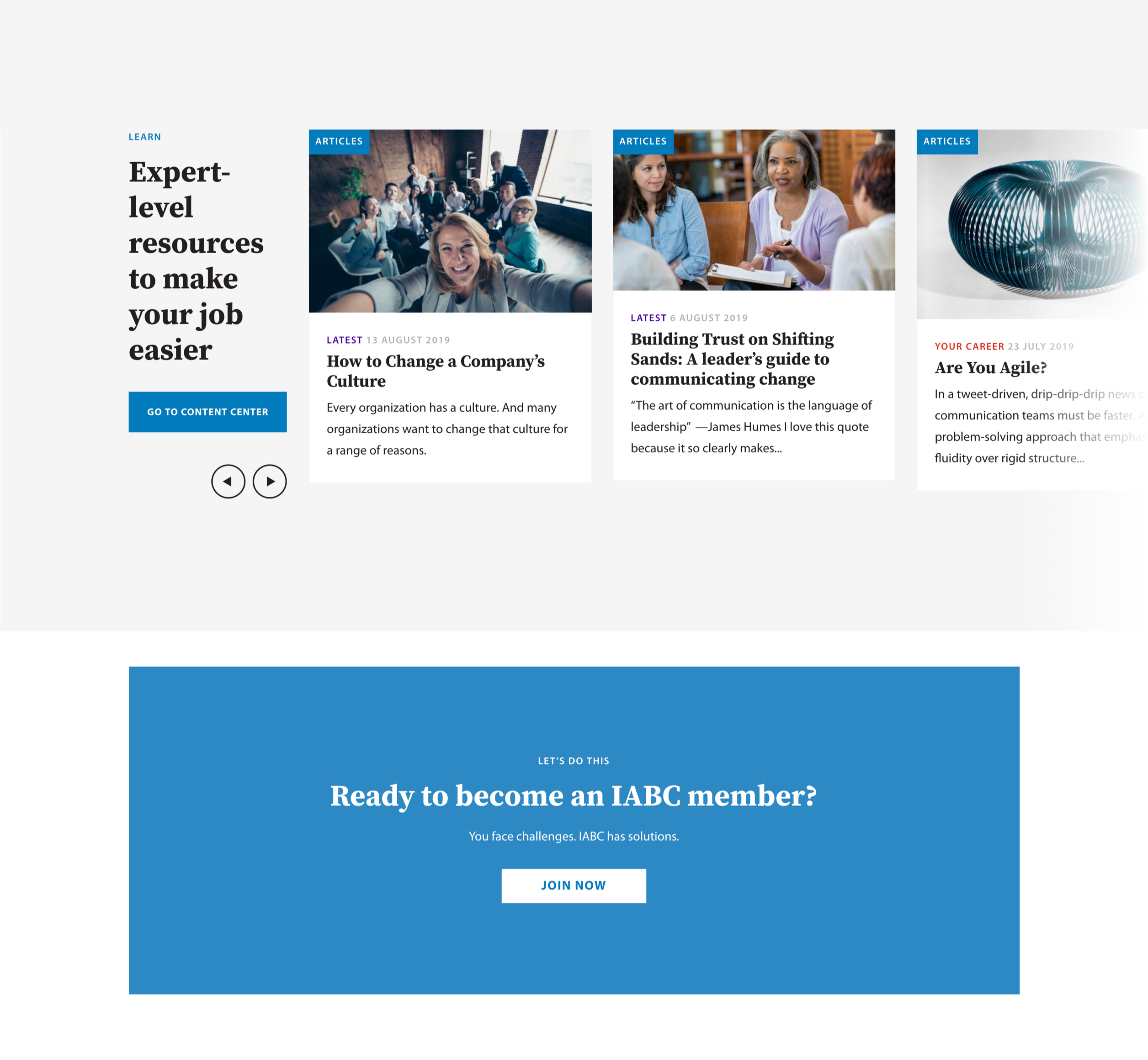 IABC - Gallery - Learn