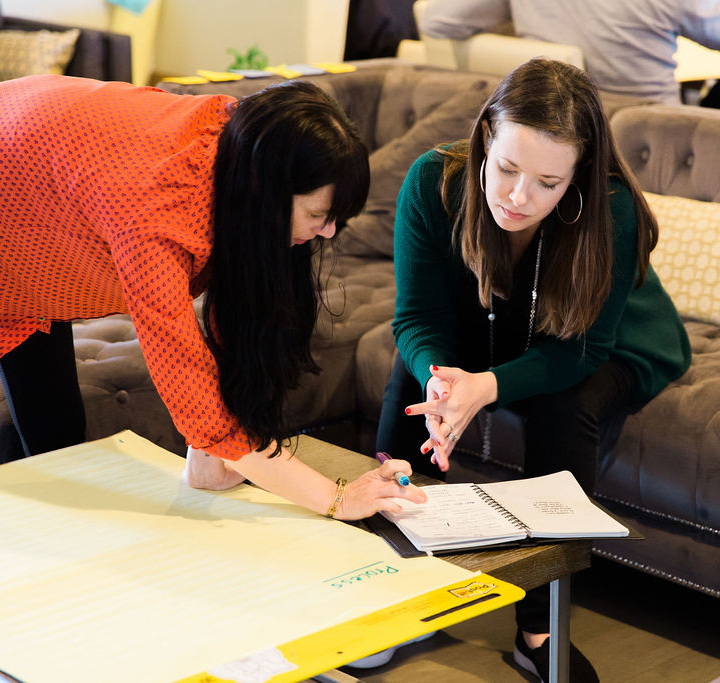 Kim and Jess Strategizing