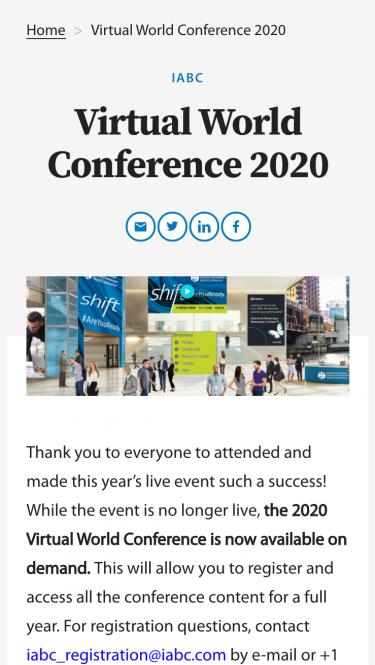IABC conference