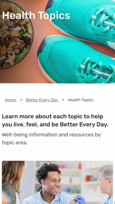 Health Topics on Mobile