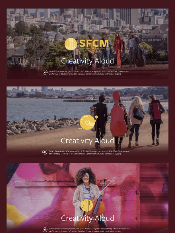 Hero images for the SFCM home page