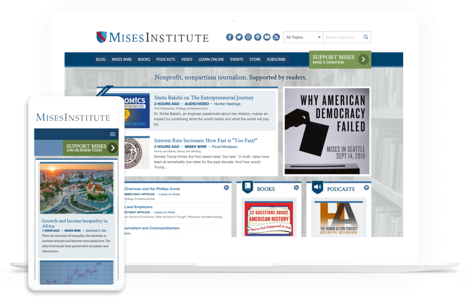 Mises Institute homepage