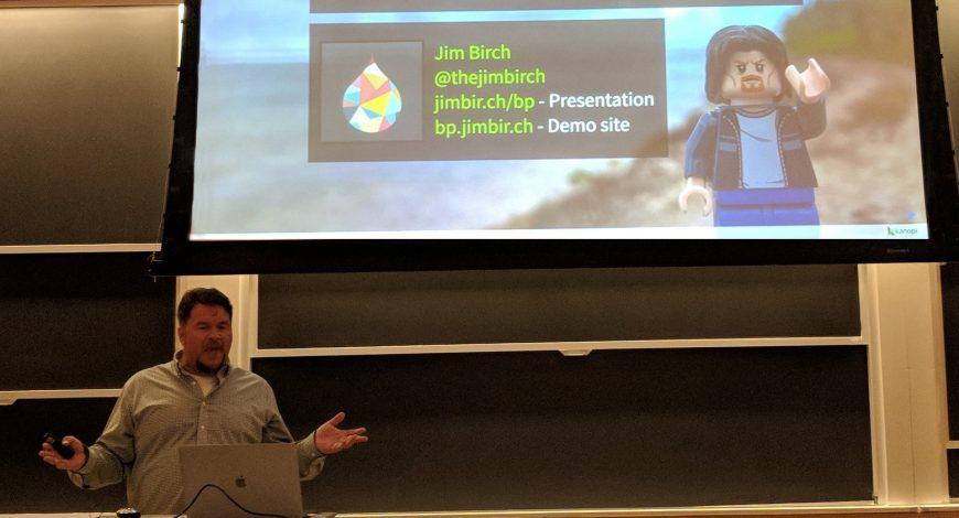 Jim speaking and presenting