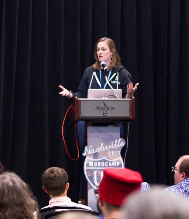 Kat White of Kanopi at WordPress WordCamp