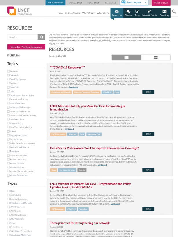 LNCT Resource Section