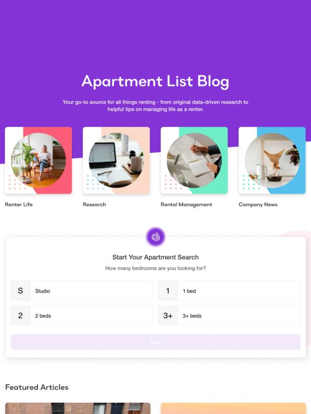Apartment List Blog Feature
