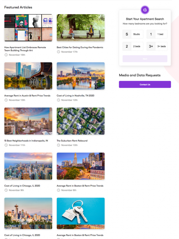 Apartment List Search Widget