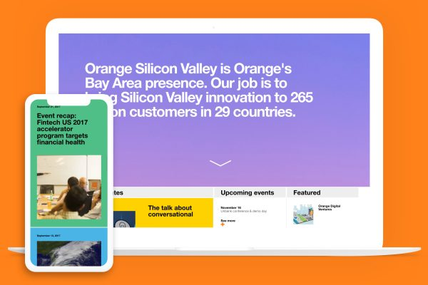 Orange Silicon Valley shown on multiple devices