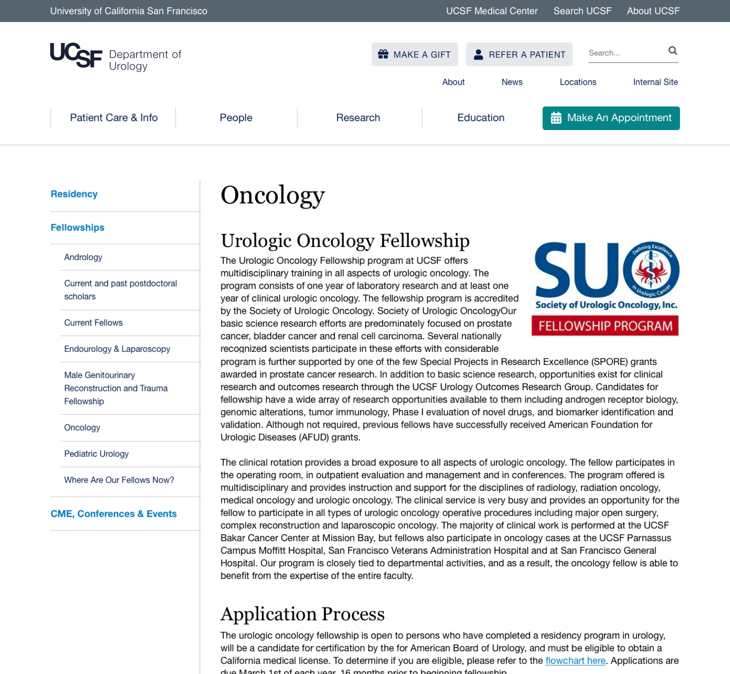 UCSF Urology Basic page