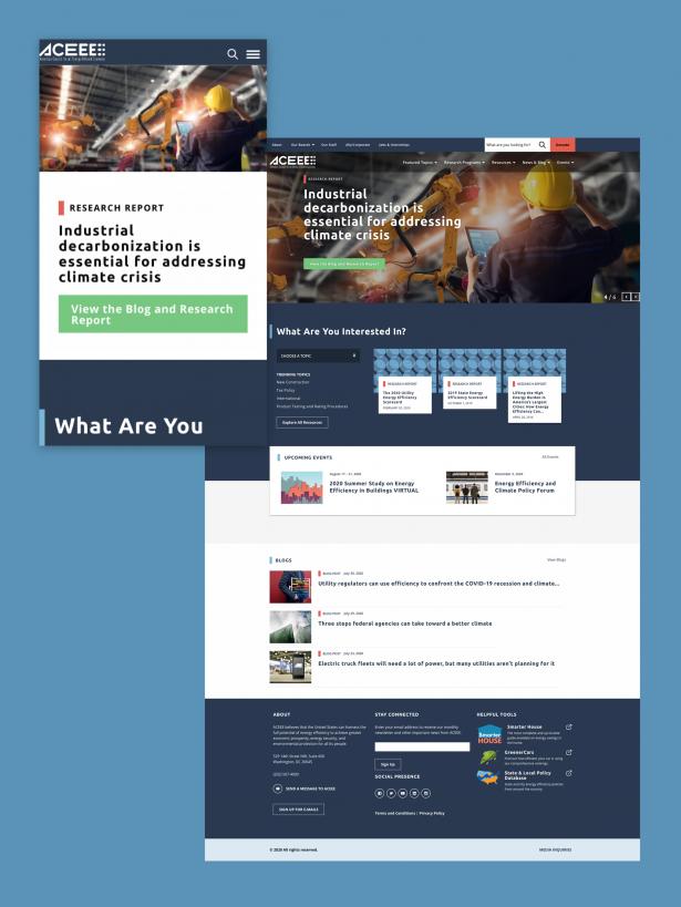 Visual design of ACEEE site