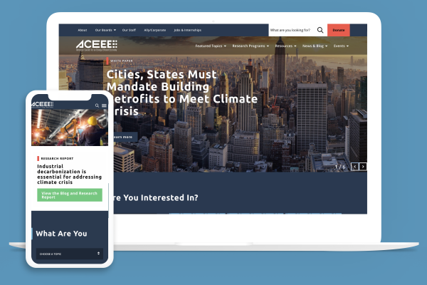 ACEEE site on multiple devices