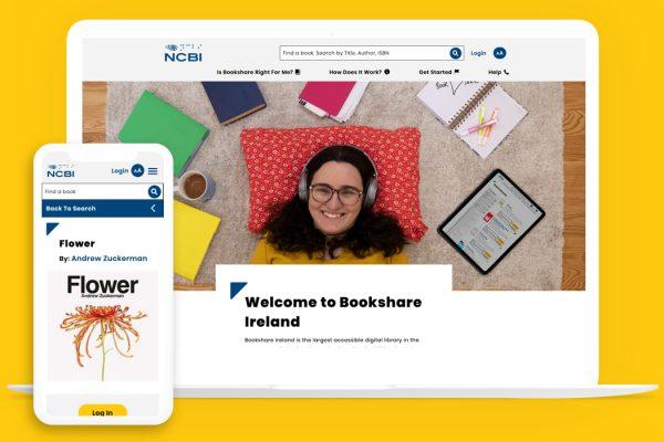 Bookshare Ireland website on several devices