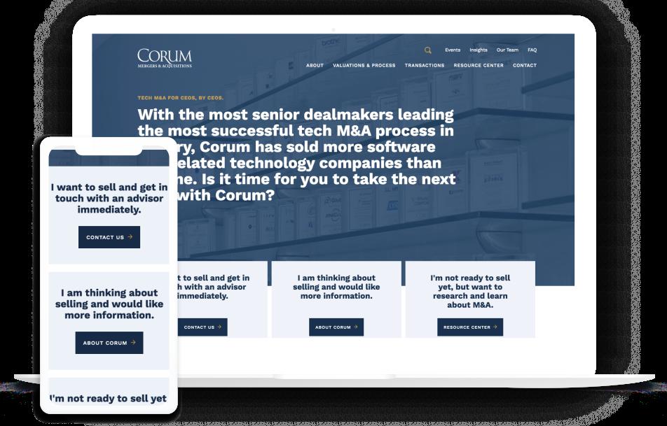 Corum Group Homepage