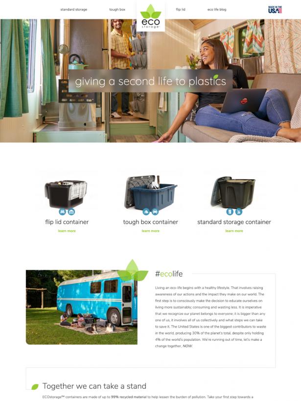 EcoStorage Homepage