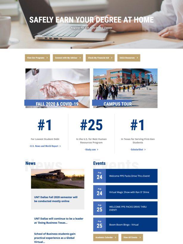 UNT Dallas Home Page