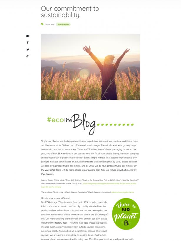 EcoStorage Blog