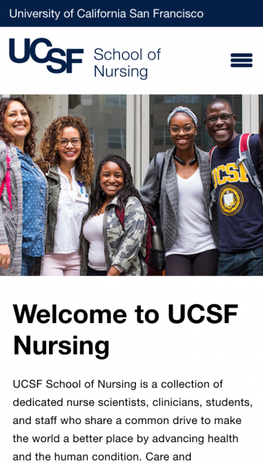UCSF Nursing Welcome