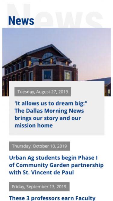 News for UNT Dallas
