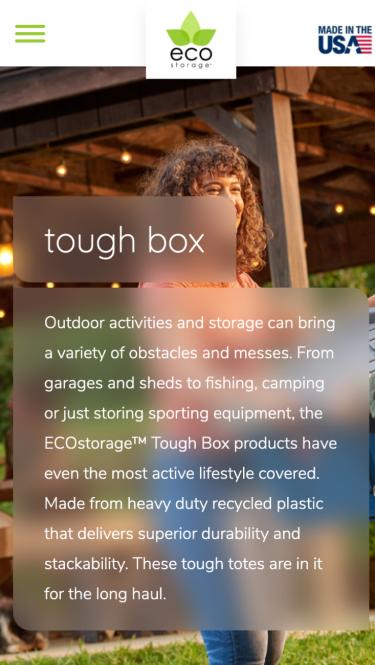 EcoStorage Product Page