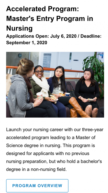 UCSF Nursing Application