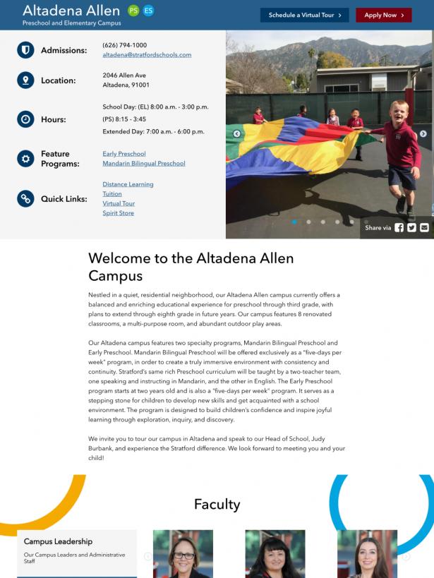 Stratford Campus Page