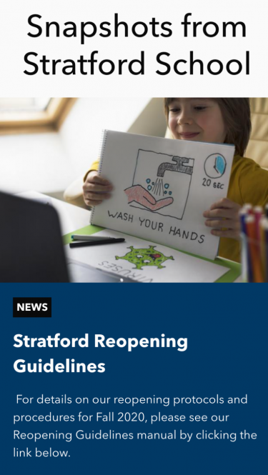 Stratford Schools news on mobile