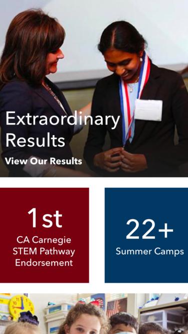 Stratford Schools homepage on mobile