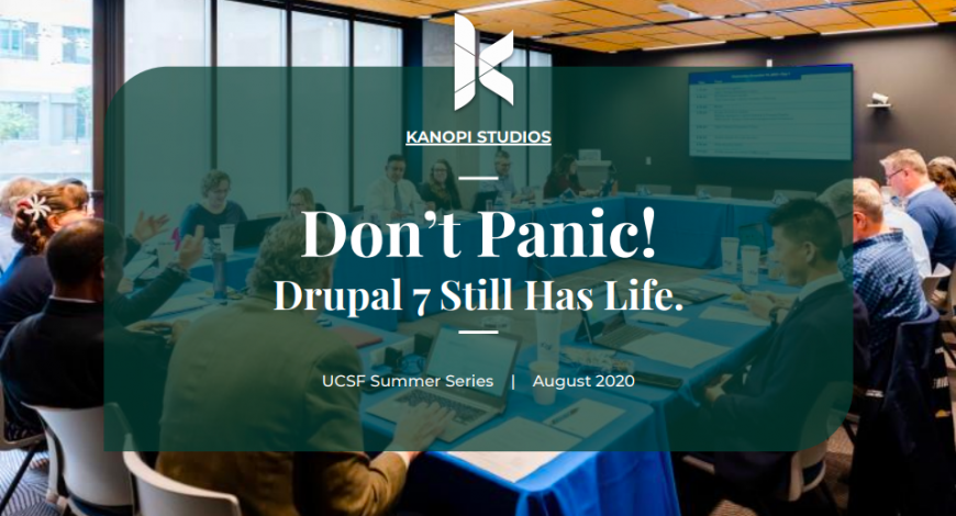 Cover image for UCSF Presentation on Drupal 7