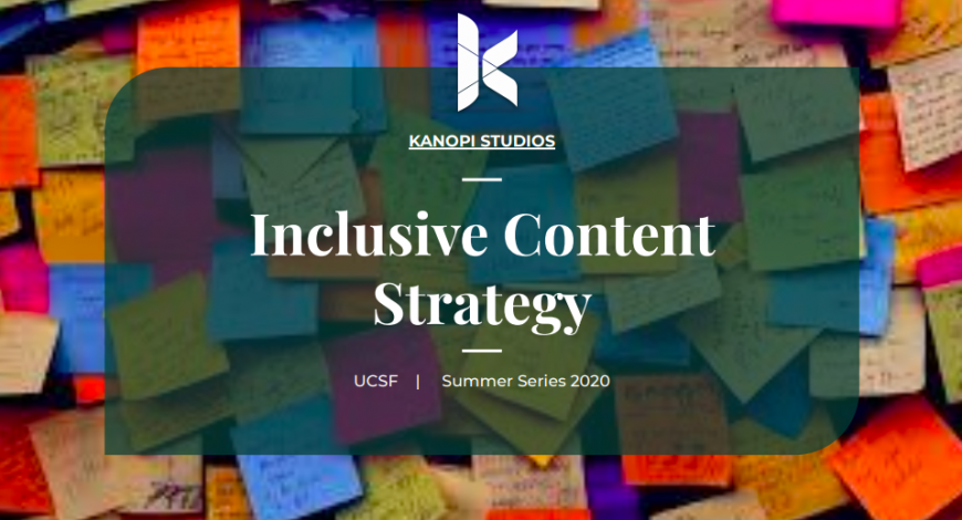 Cover image for UCSF Presentation on inclusive content strategy