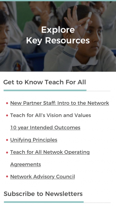 Teach for All Learning Portal Resources