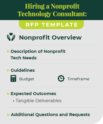 This is an example of a RFP when hiring a nonprofit technology consultant.