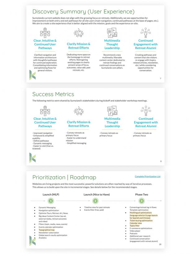Sunnlylands Website growth plan