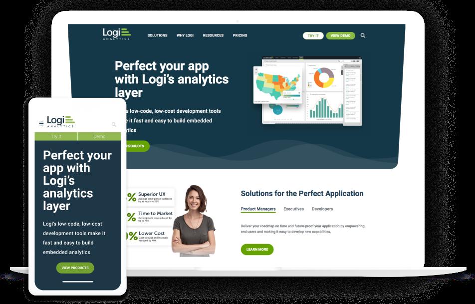 Logi Analytics Homepage