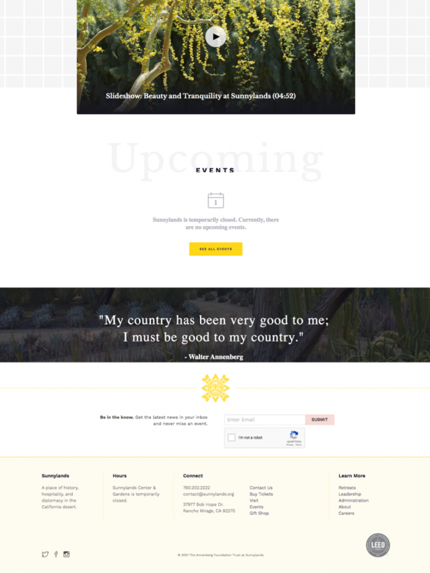 Sunnylands enhanced footer