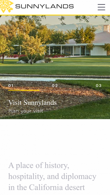 Sunnylands home page