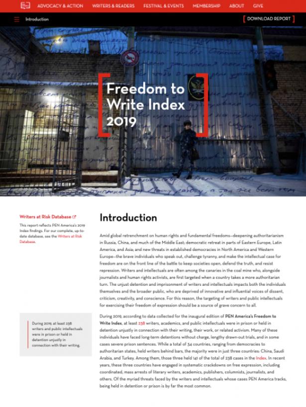 Pen America report layout