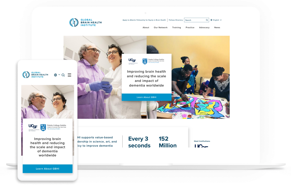 Explore the Global Brain Health Institute for an example of successful hospital web design.